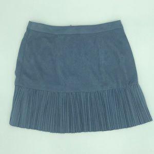 Nasty Gal Periwinkle Suede Skirt